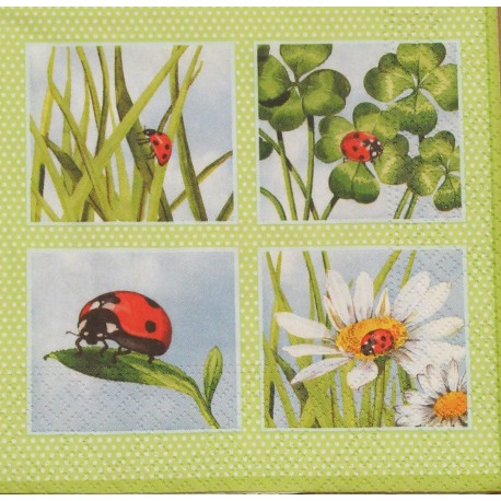 Servetten Ladybird Green