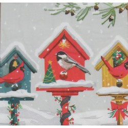 Servetten Holiday Birdhouses