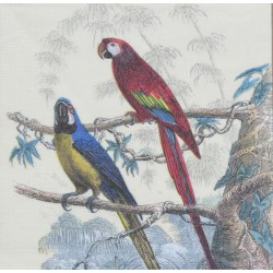 Servetten Antique Parrots