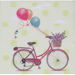 Servetten Bicycle with Balloons