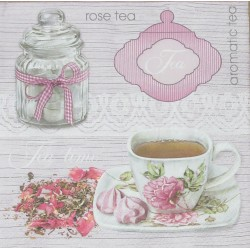 Servetten Pink Tea Background
