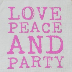 Servetten Love & Party Neon Pink