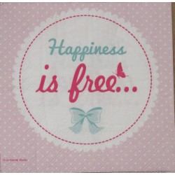 Servetten Happiness is Free