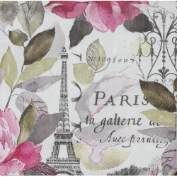 Servetten Jardin Paris pink