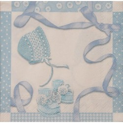 Servetten Baby Shower blue